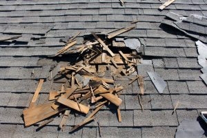storm damage to roof